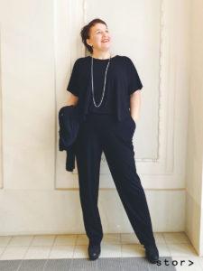 Diesen coolen schwarzen Jumpsuit aus Jersey von stor> in Wien-Josefstadt macht dich zum Trendsetter.