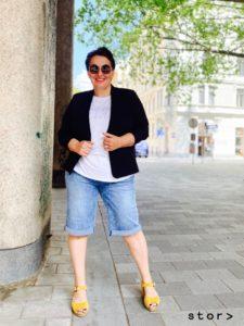 Jeansbermudas in den Größen 42 bis 50 von stor Wien.